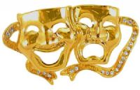 Gold Finish Comedy and Tragedy Mask